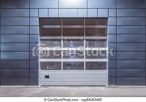 time., auto, nuit, bâtiment extérieur, service - csp84063460
