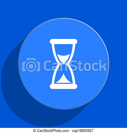 time blue web flat icon - csp19830927