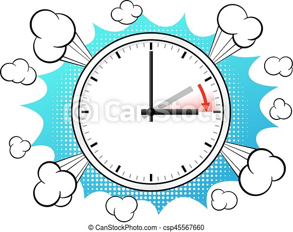 time change to daylight saving time vector illustration of clip rh canstockphoto com daylight savings clip art free daylight savings clip art spring forward
