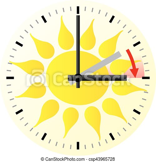 time change to daylight saving time vector illustration of rh canstockphoto ca daylight savings clipart 2017 daylight saving time clipart