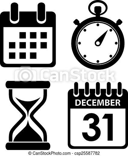 Time clock icon - csp25587782