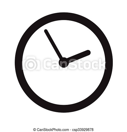 time clock icon illustration sign design vectors illustration