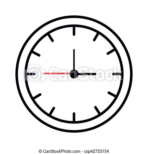 Time Clock Isolated Icon Vector Illustration Design