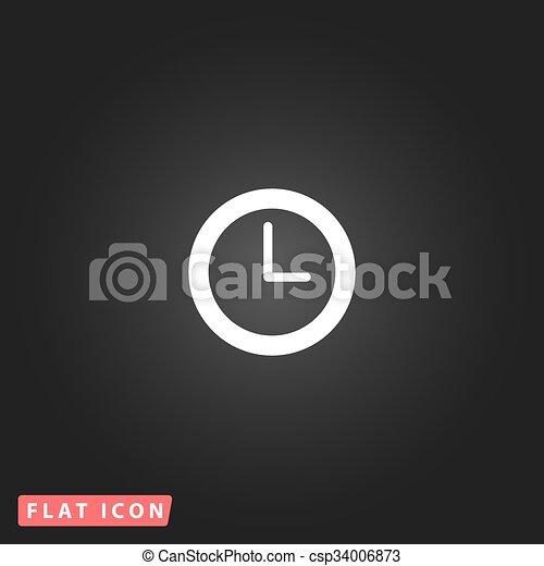 time clock vector icon - csp34006873