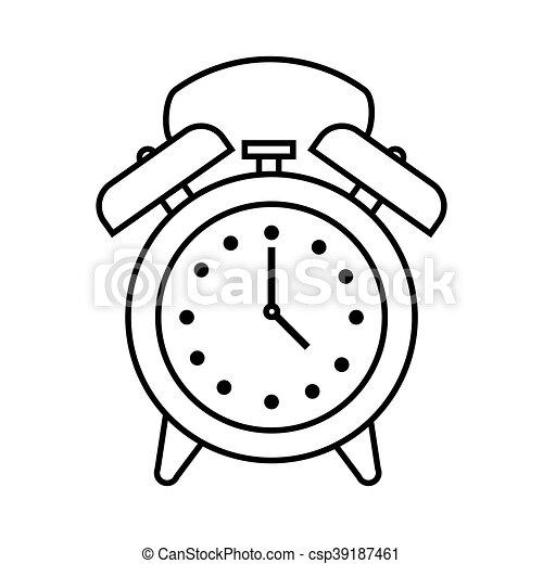 Time Clock Watch Alarm Icon Vector Illustration Design