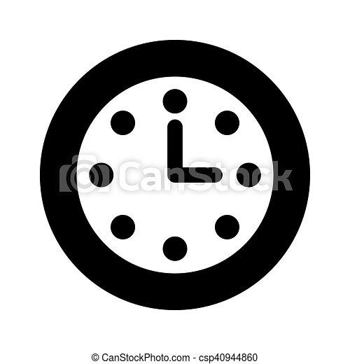 time clock watch flat icon - csp40944860