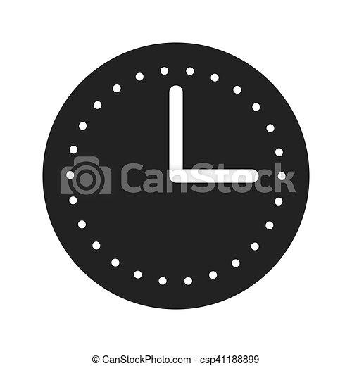 time clock watch flat icon - csp41188899