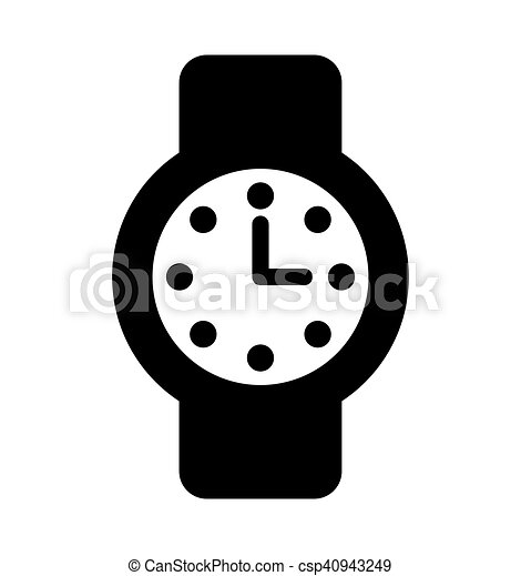 time clock watch flat icon - csp40943249
