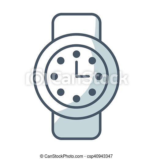 time clock watch flat icon - csp40943347