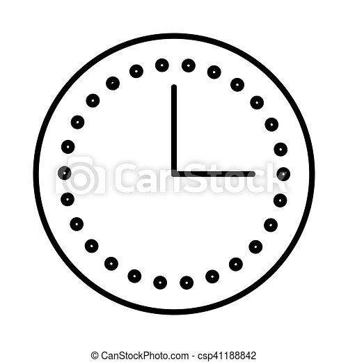 time clock watch flat icon - csp41188842