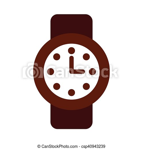 time clock watch flat icon - csp40943239