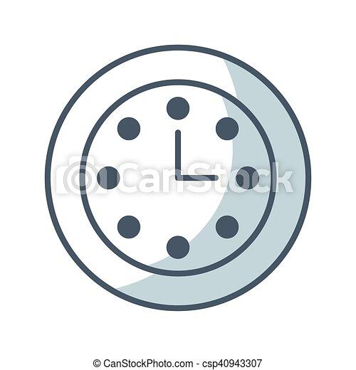 time clock watch flat icon - csp40943307