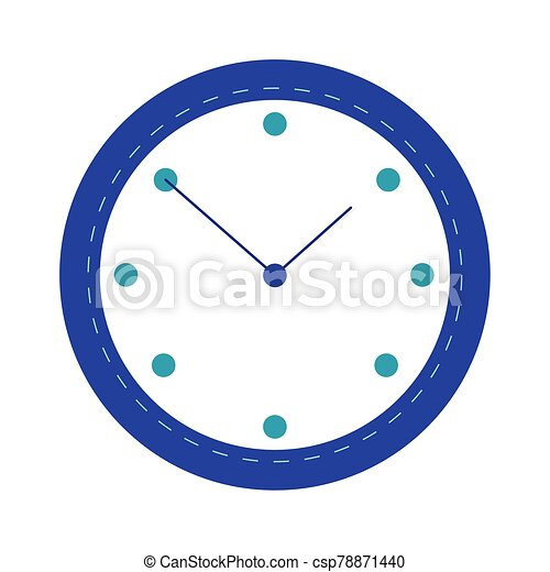 time clock watch flat style icon - csp78871440