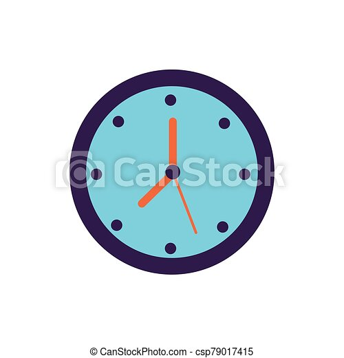 time clock watch flat style icon - csp79017415