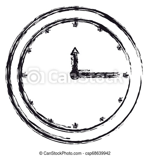time clock watch icon - csp68639942