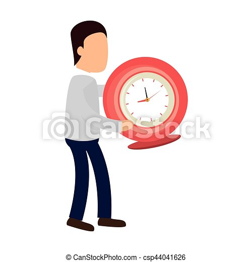 time clock watch icon - csp44041626