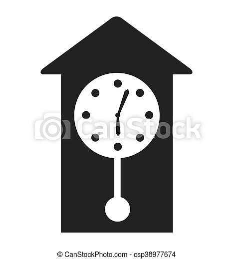 time clock watch icon - csp38977674
