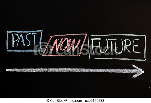 Time concept of past, present and future - csp8180233