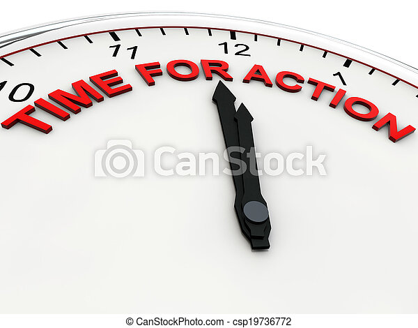 Time for action on a alarm clock its 1 minute to twelve picture time for action csp19736772 publicscrutiny Image collections