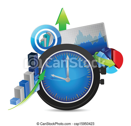 time for business concept illustration design - csp15950423