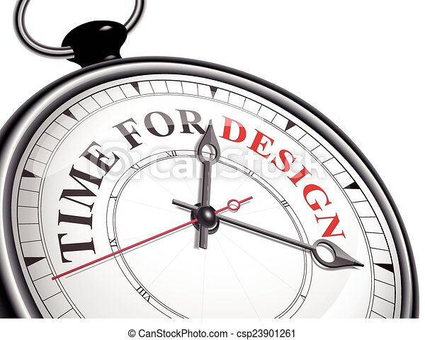 time for design concept clock - csp23901261