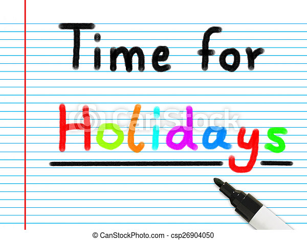 time for holidays - csp26904050