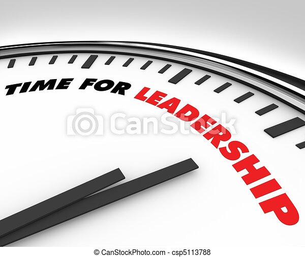 Time for Leadership - Clock - csp5113788