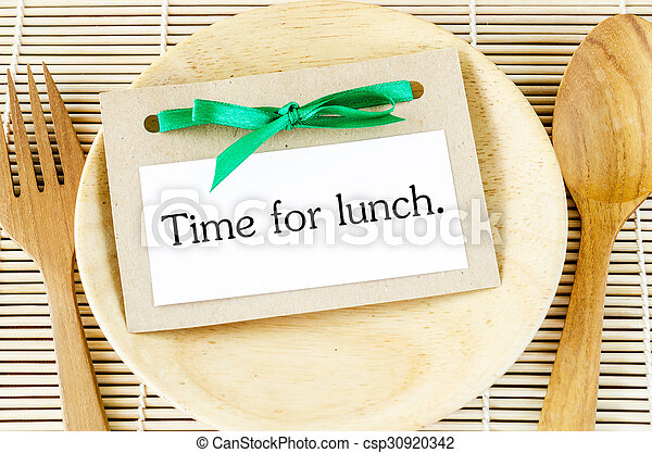 Time for lunch card - csp30920342
