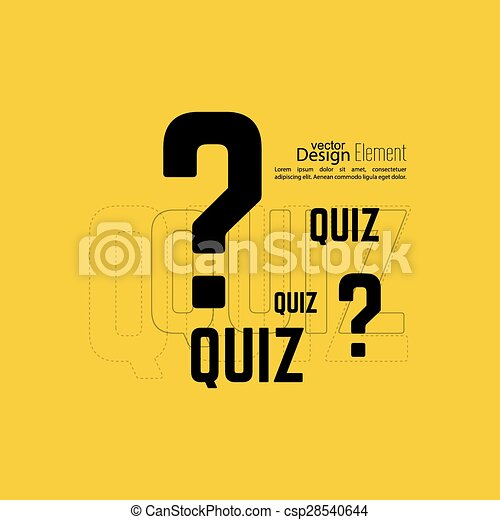 Time For Questions And Answers Quiz Background The Concept Is The Question With The Answer Vector Canstock