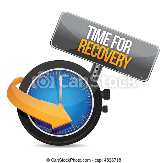 time for recovery concept illustration - csp14836718