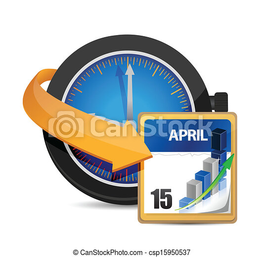 time for taxes concept illustration design - csp15950537