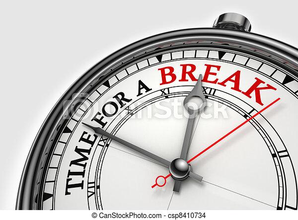 time fora break concept clock  - csp8410734