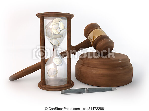 Time Hourglass of Auction - csp31472286