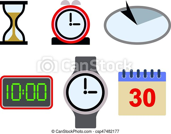 Time Icon Asset - csp47482177