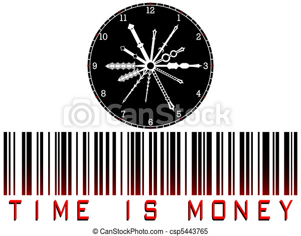 time is money bar code - csp5443765