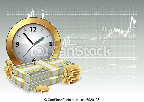 Time is money concept - csp6920135