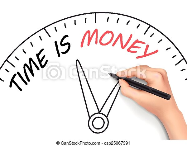 time is money written by hand - csp25067391