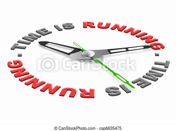 time is running - csp6635475