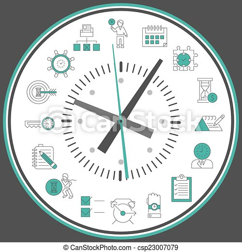 Time management clock - csp23007079