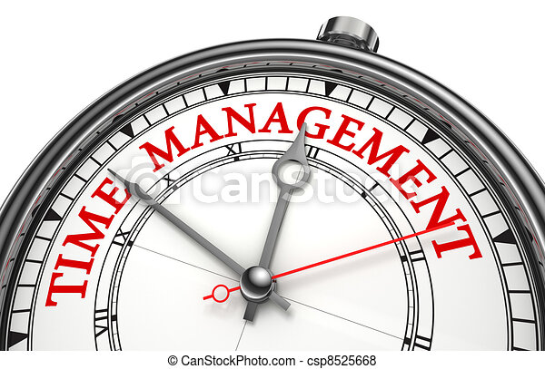 time management concept clock - csp8525668