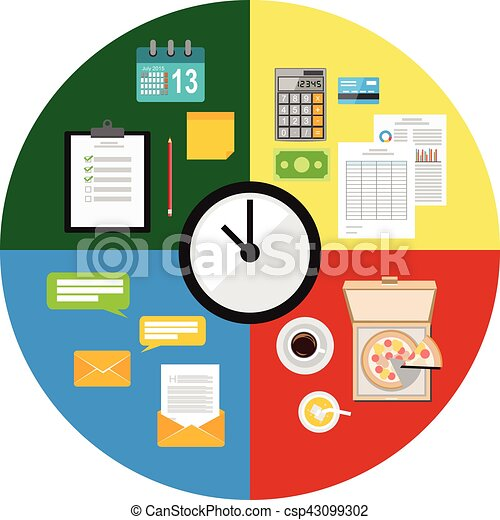 time management concept illustration rh canstockphoto com time management clipart images time management clipart illustrations