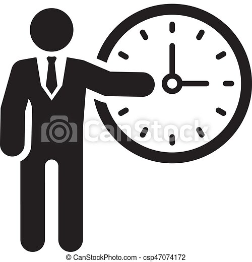 time management icon flat design time management icon vectors rh canstockphoto com  bad time management clipart