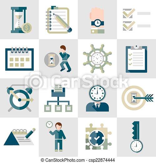 Time management icons set - csp22874444