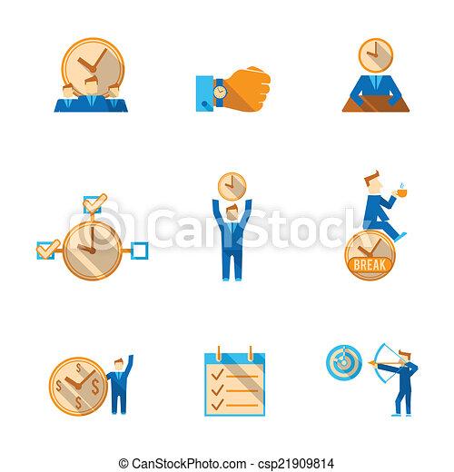 Time management icons set - csp21909814