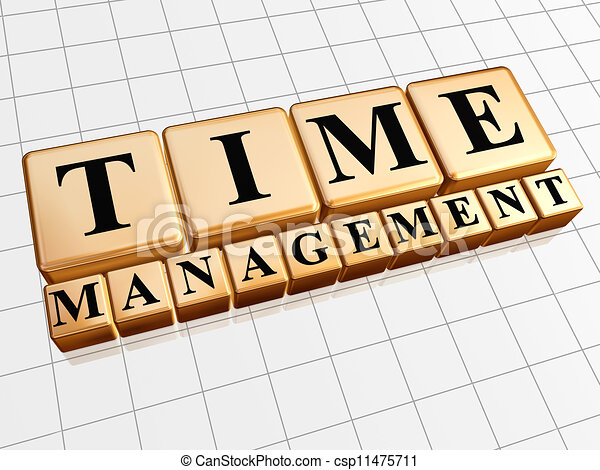 time management in golden cubes - csp11475711