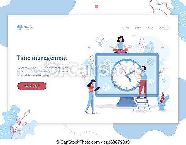 Time Management Web Banner Time Management Work Planning Setting Tasks Web Banner Design Template With Flat Vector