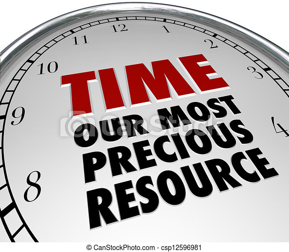 Time Our Most Precious Resource Clock Shows Value of Life - csp12596981