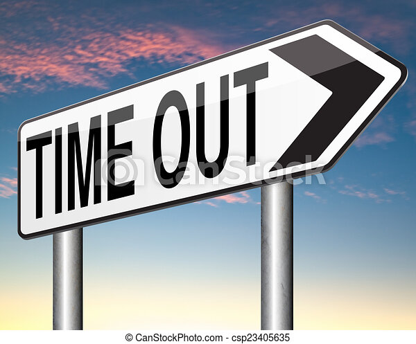 time out - csp23405635