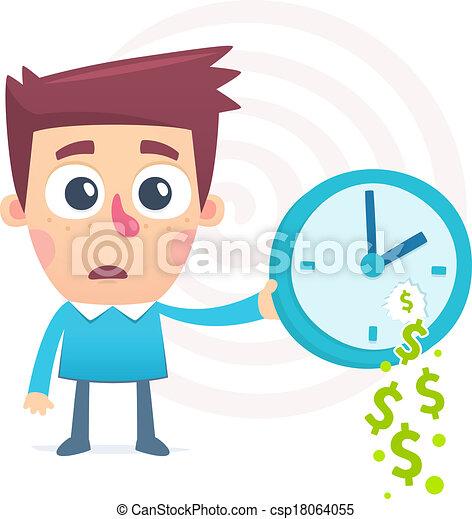 time spent money - csp18064055