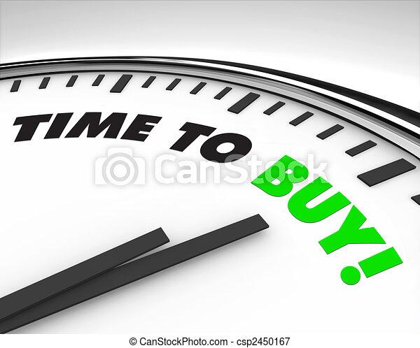 Time to Buy - Clock - csp2450167